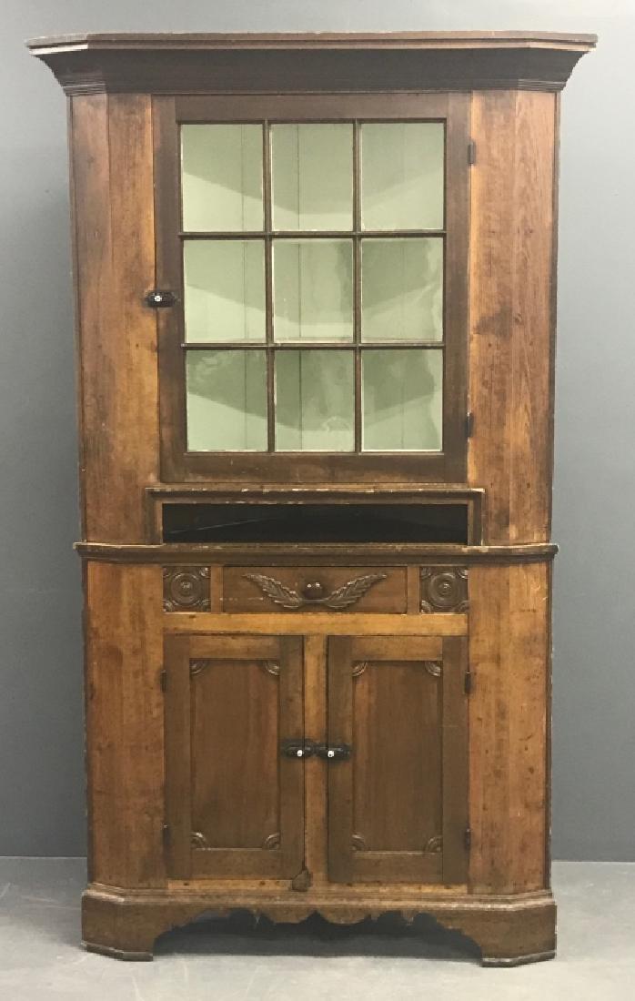 Pennsylvania Pine Corner Cupboard