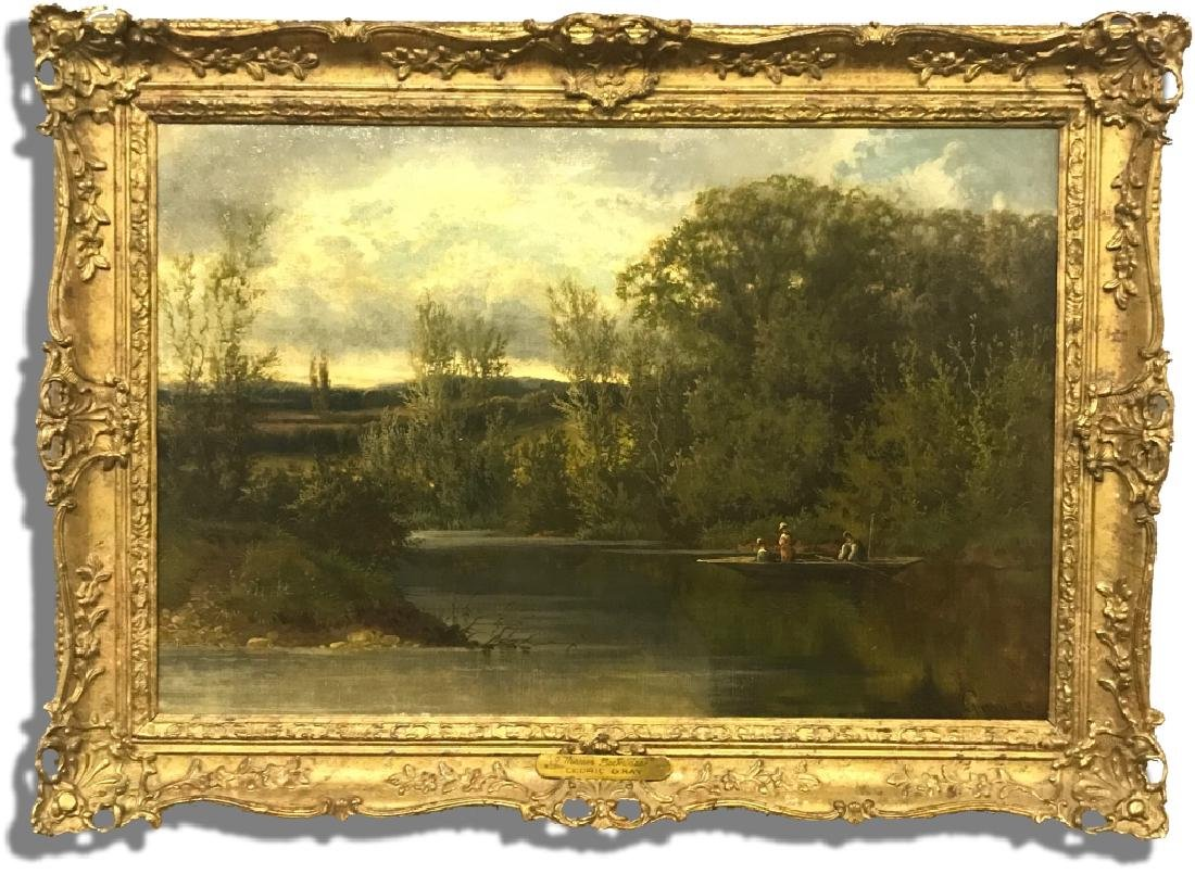 """Cedric Gray Oil On Canvas """"A Thames Backwater"""""""