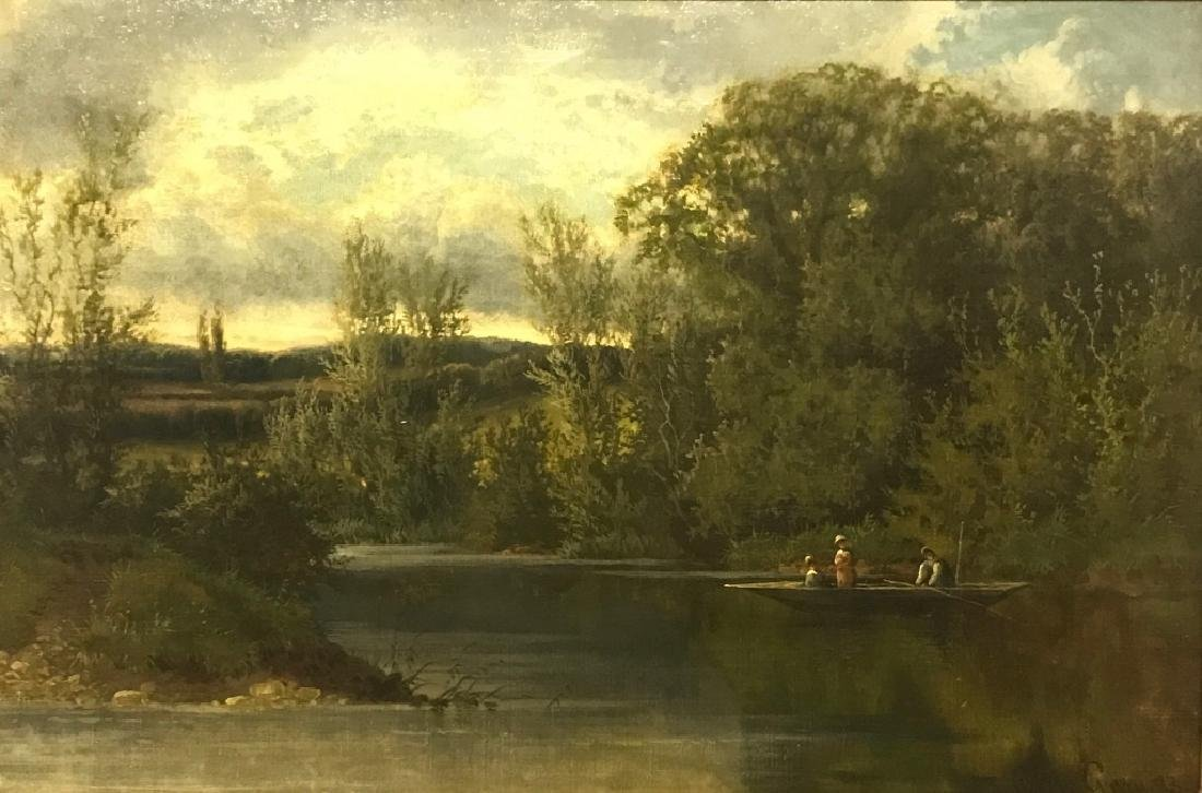 "Cedric Gray Oil On Canvas ""A Thames Backwater"" - 2"