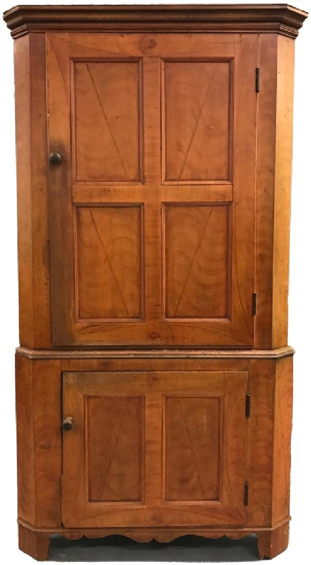 Lancaster County Two-Piece Corner Cupboard
