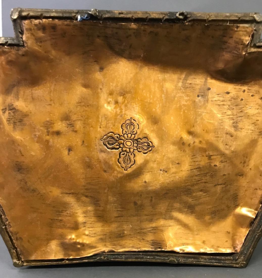 Tibetan Gilt & Silvered Bronze Seated Buddha - 10