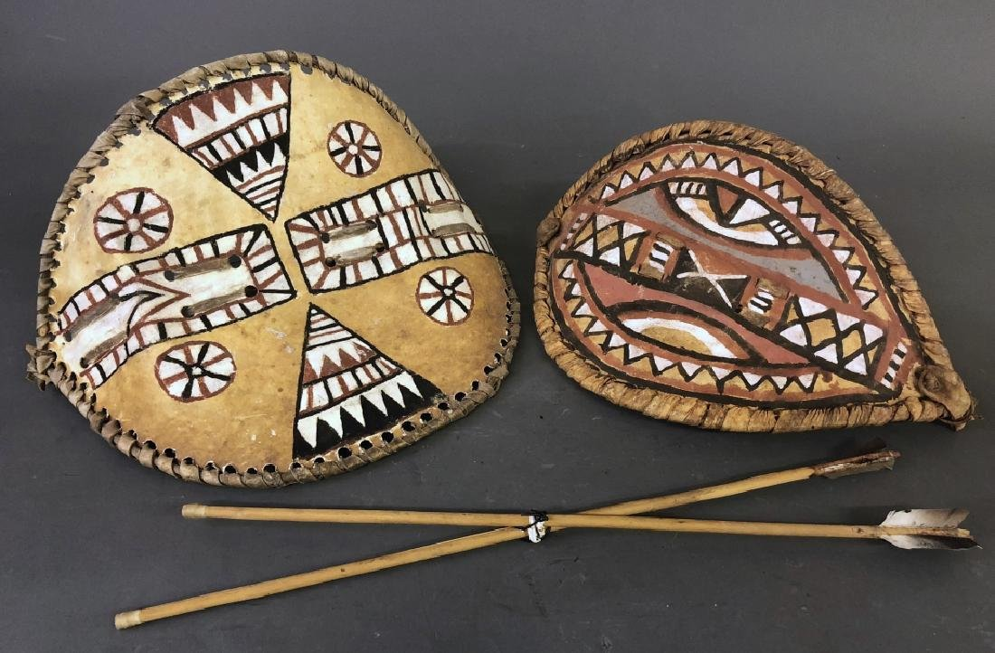 Two Small Masai Shields and Spears