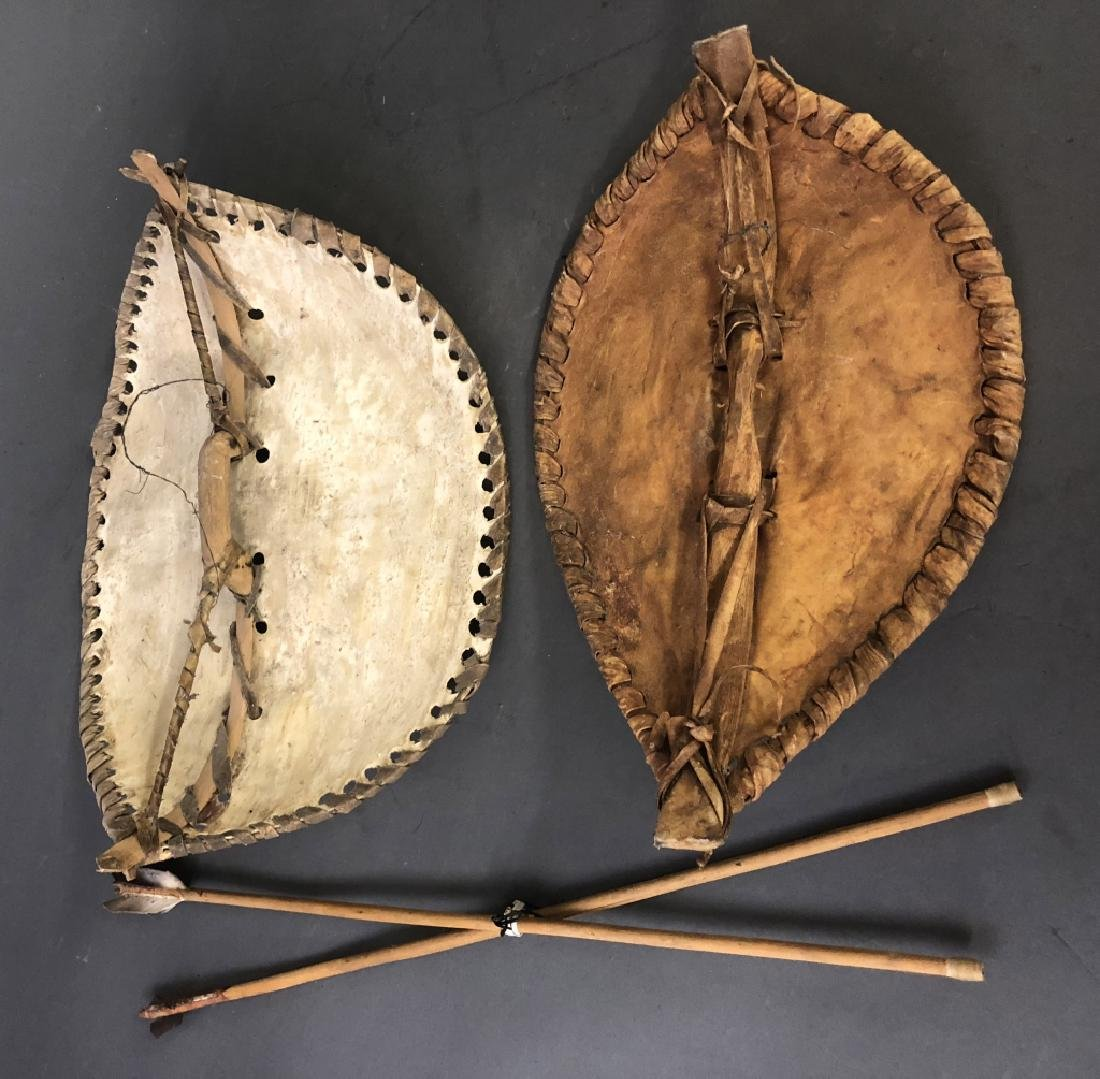 Two Small Masai Shields and Spears - 2