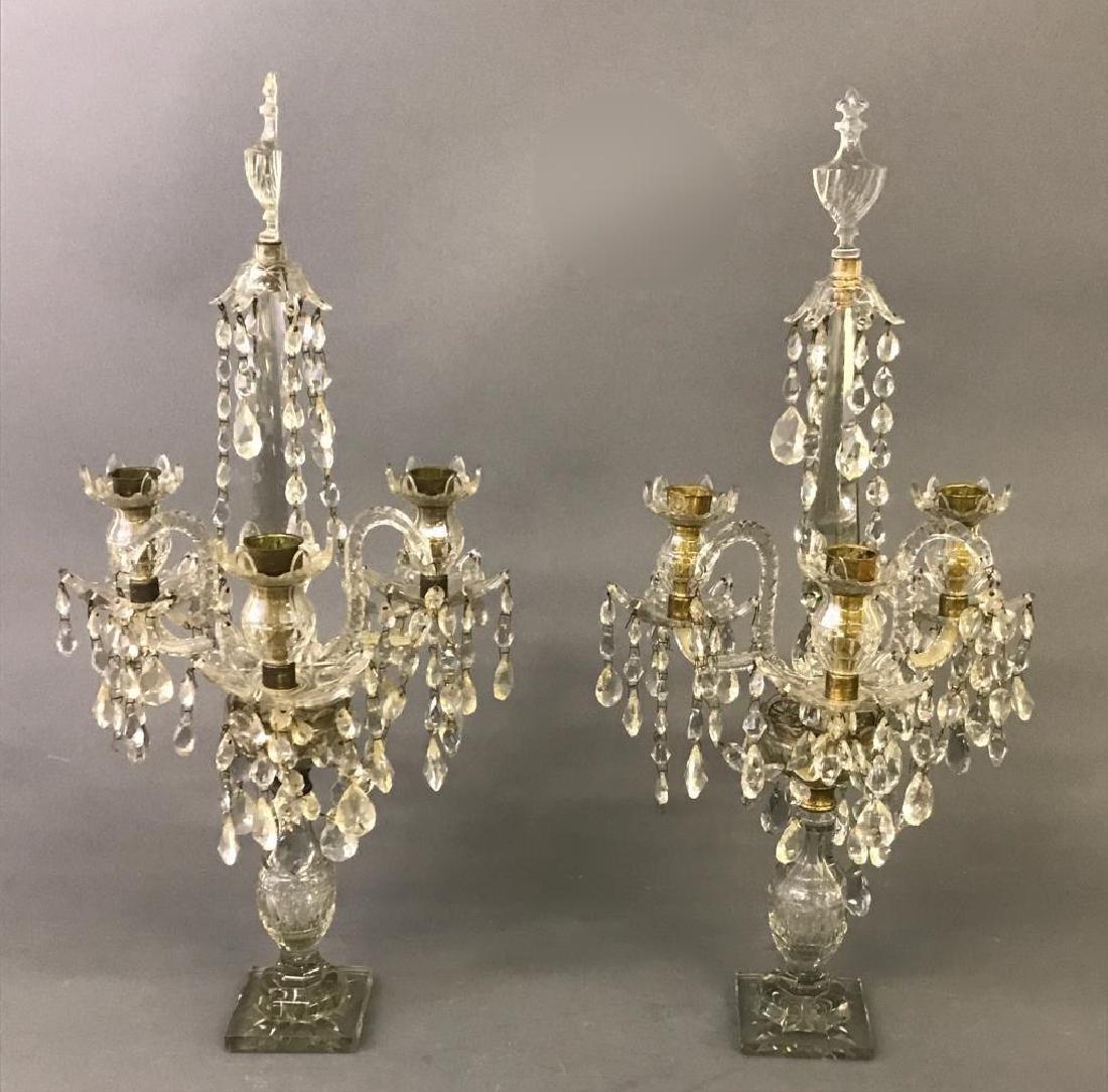 Pair of Crystal Candelabra - 2