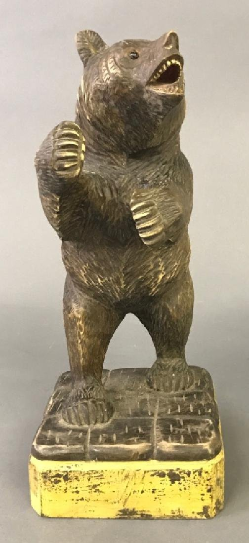 Black Forest Carved Standing Bear