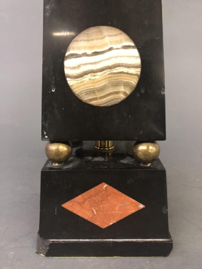 Italian Black Onyx Obelisk Form Table Lamp - 3