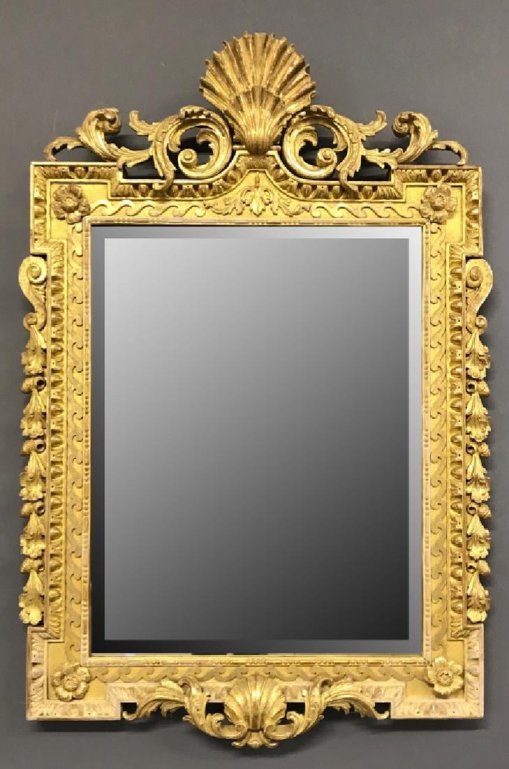 Large Italian Gilt Decorated Mirror