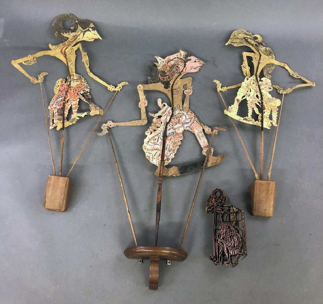 Balinese Shadow Puppets and Wayang Tjab Block