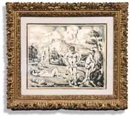 """Paul C�zanne Color Lithograph """"Les Baigneurs"""""""