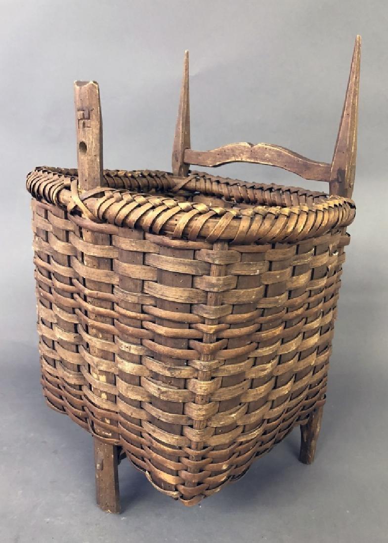 Early Splint Wood Back Pack Basket