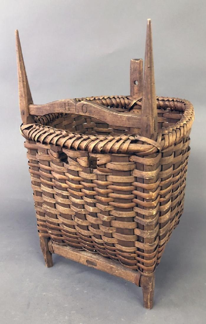 Early Splint Wood Back Pack Basket - 2