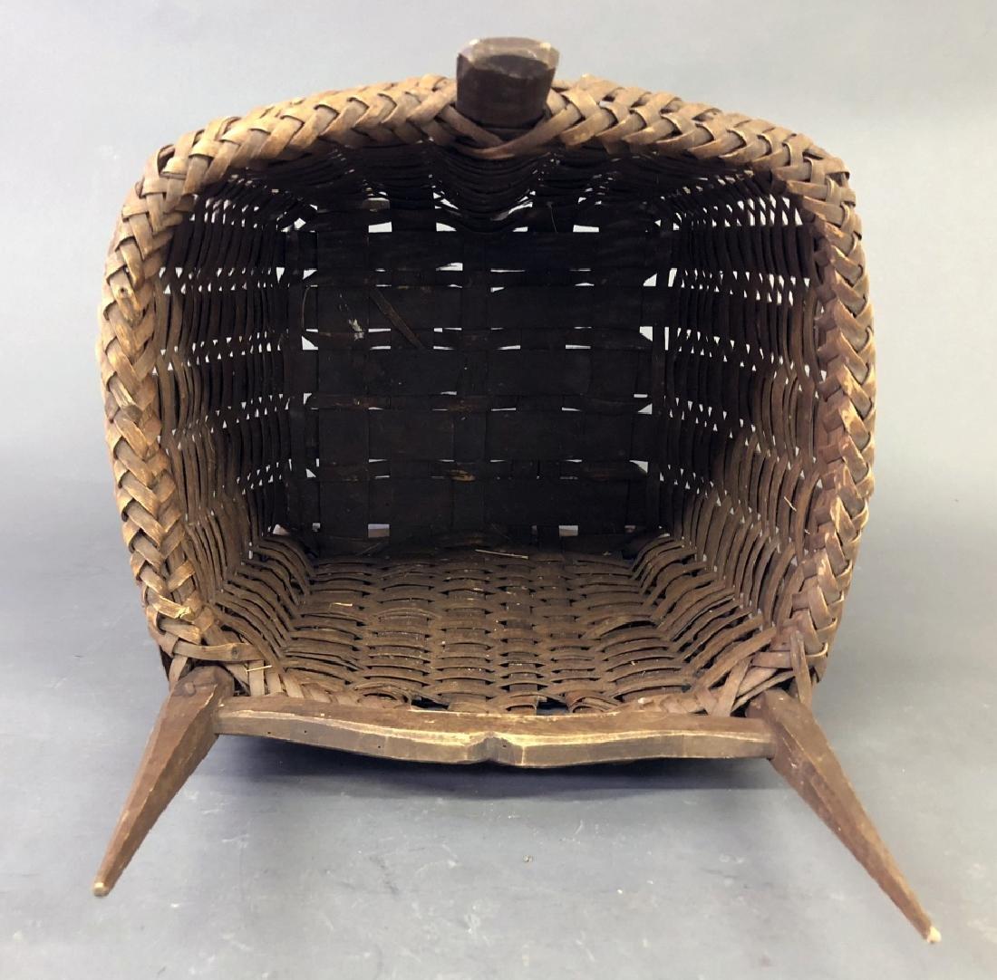 Early Splint Wood Back Pack Basket - 3
