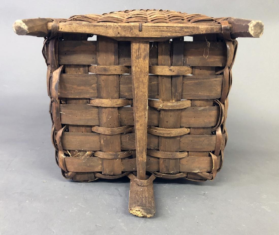 Early Splint Wood Back Pack Basket - 4