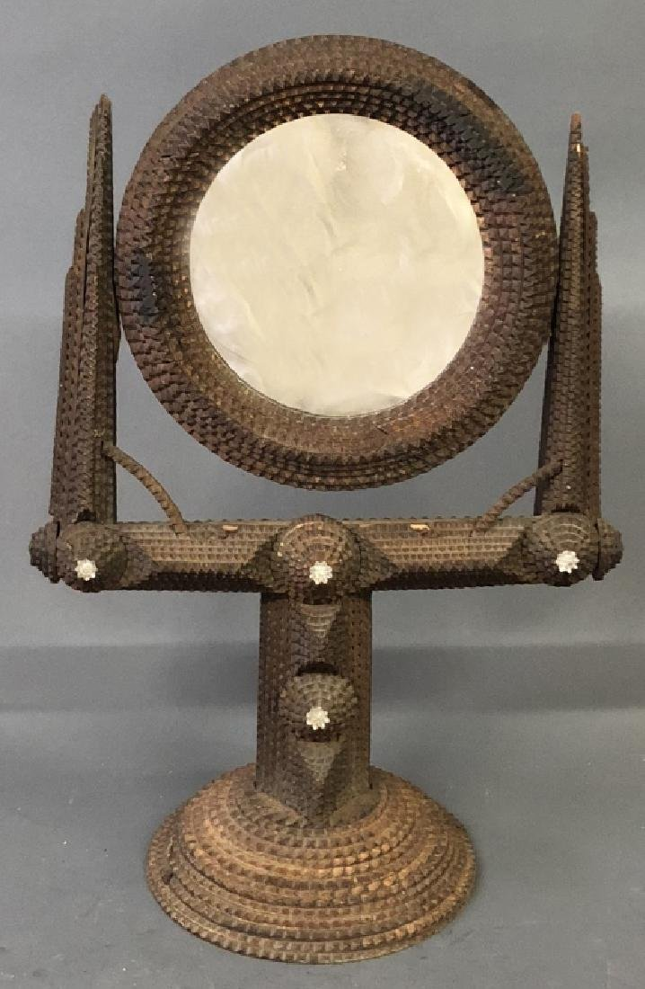 Tramp Art Shaving Mirror