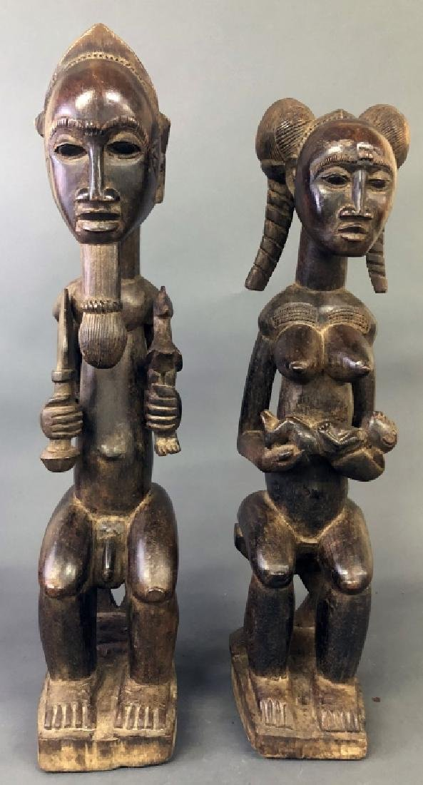 Baule Tribe Male and Female Figures