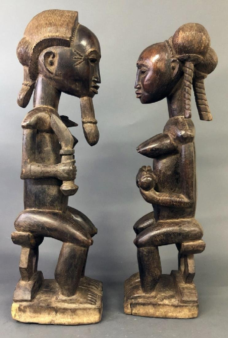Baule Tribe Male and Female Figures - 2