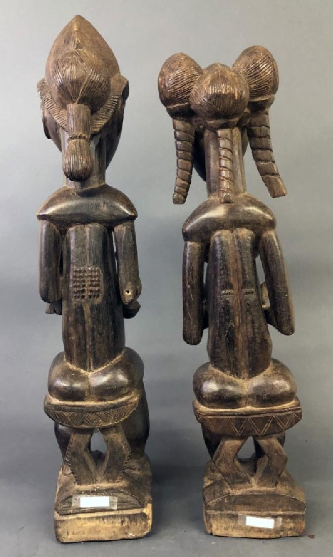 Baule Tribe Male and Female Figures - 3