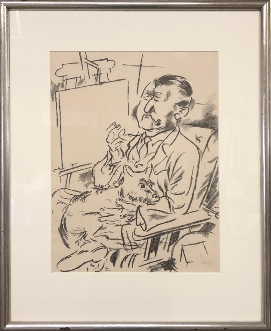 "George Grosz Signed Lithograph ""Self Portrait..."""