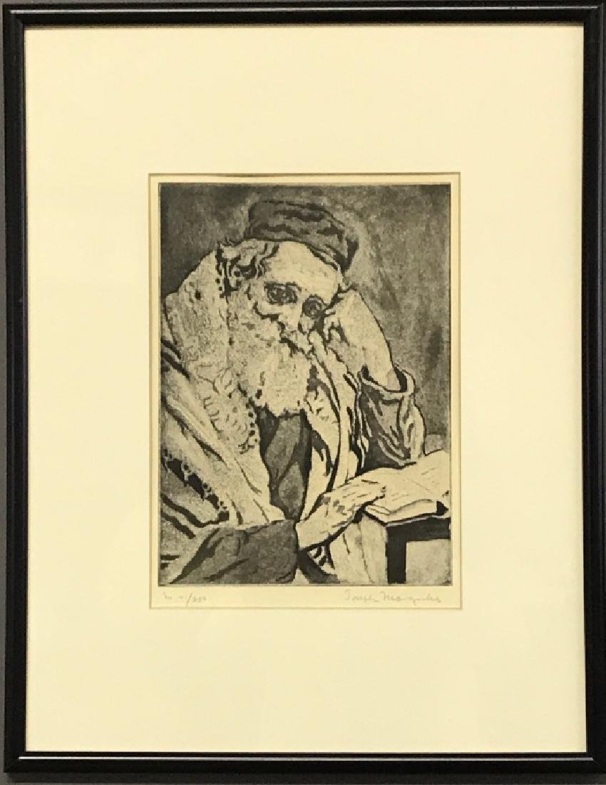 "Joseph Margulies Etching ""Meditation"""
