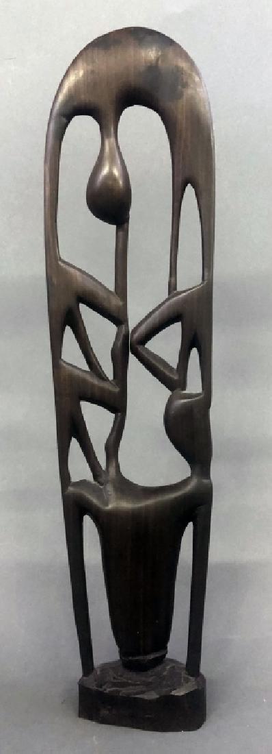 Six Makonde Shetani Carvings and Book - 5
