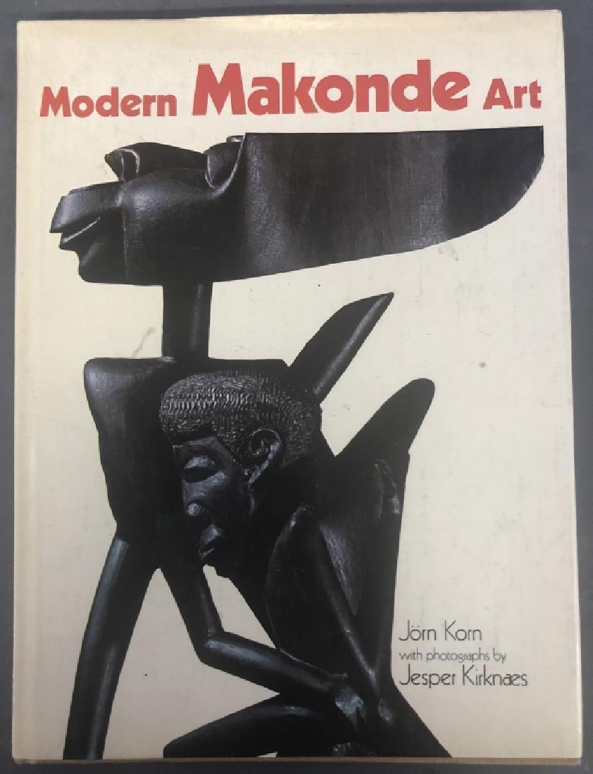 Six Makonde Shetani Carvings and Book - 8