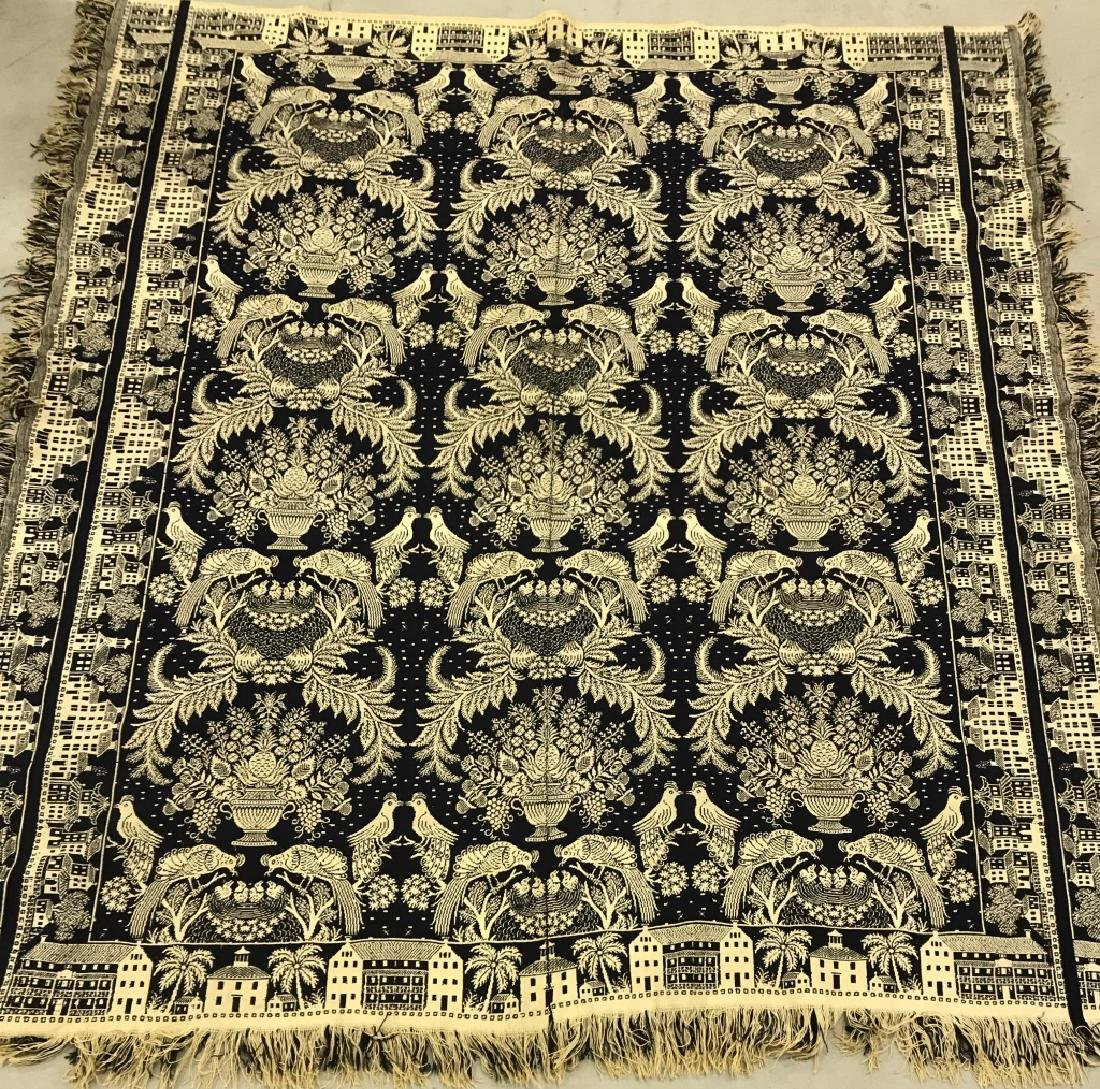 Early Philadelphia Blue & White Coverlet