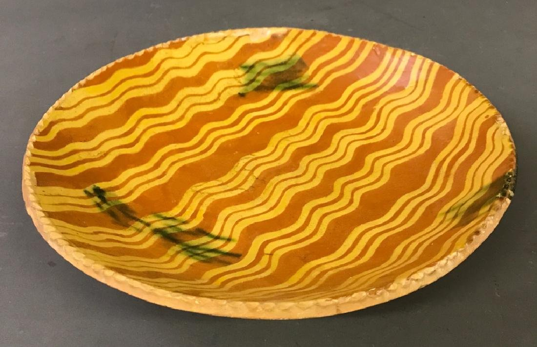 Colorful Slip Decorated Redware Plate
