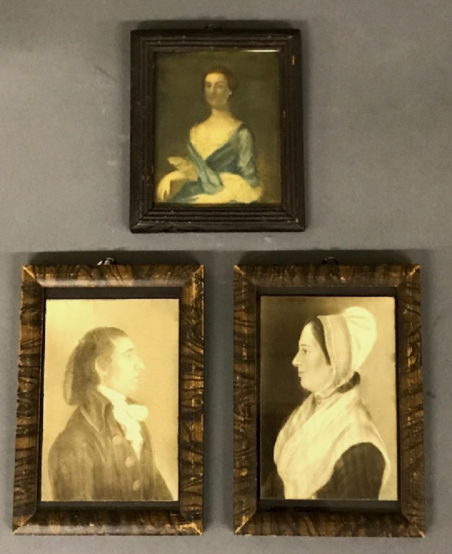 Miniature Watercolor Portrait Grouping