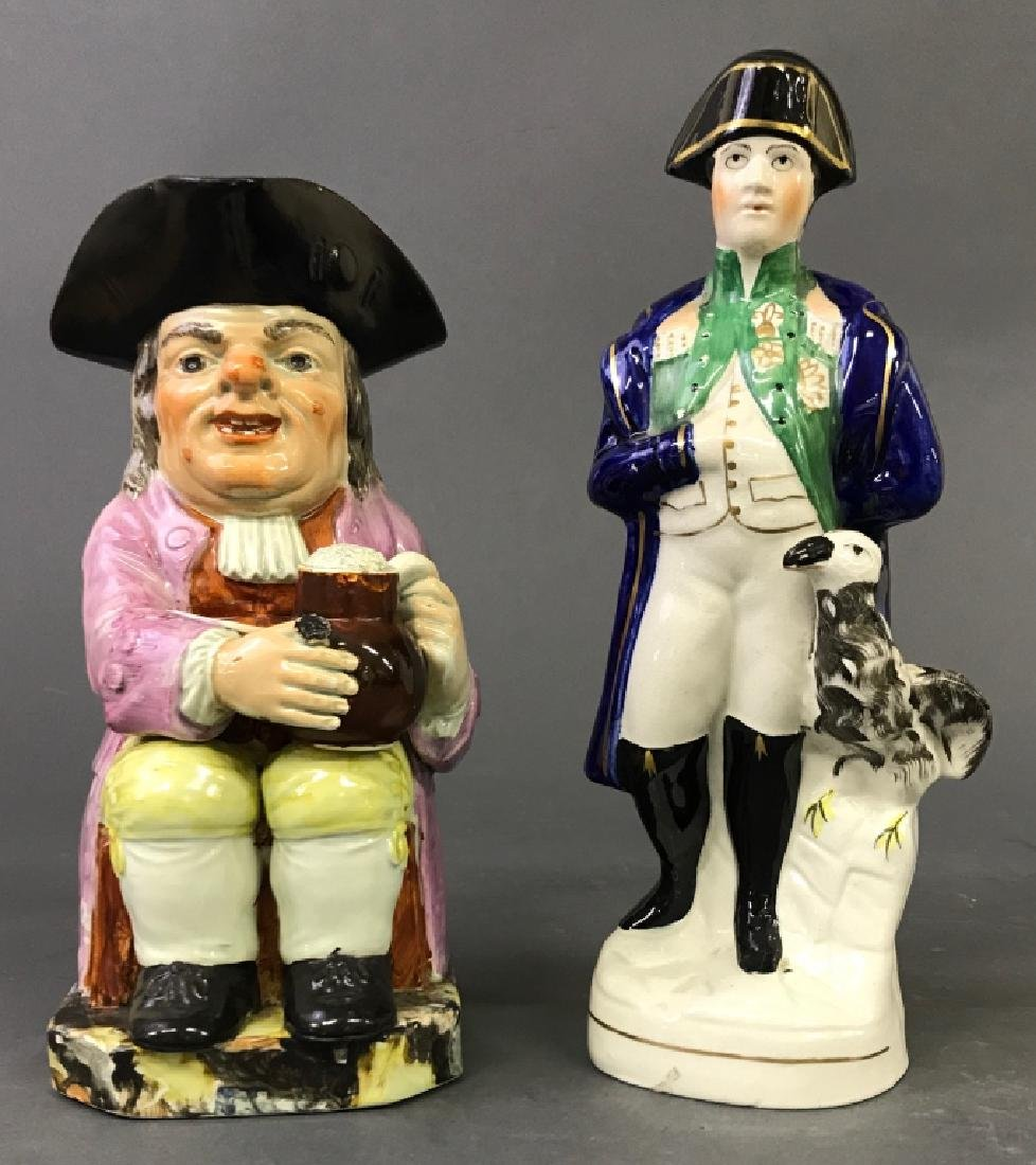 Staffordshire Figures of Napoleon and Toby Jug