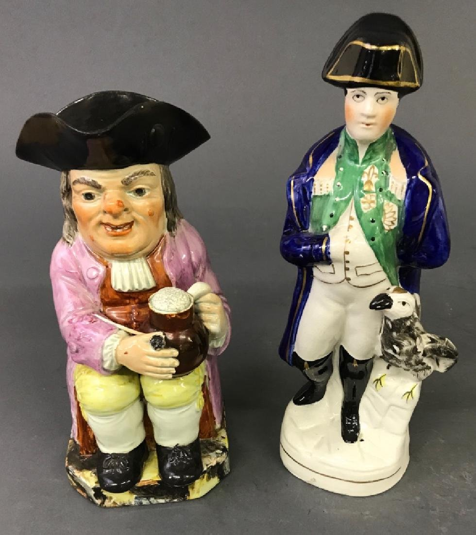 Staffordshire Figures of Napoleon and Toby Jug - 2