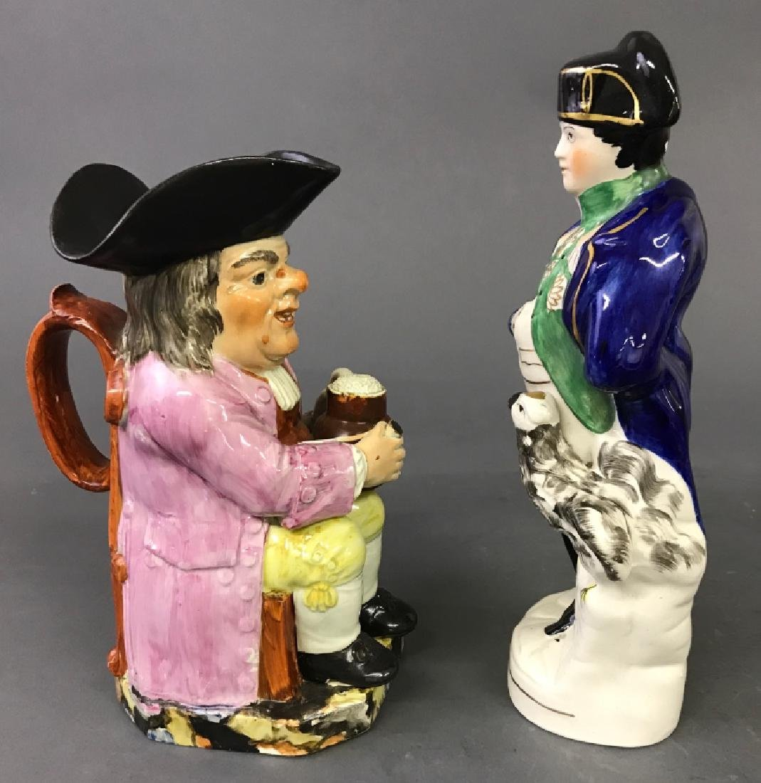 Staffordshire Figures of Napoleon and Toby Jug - 3