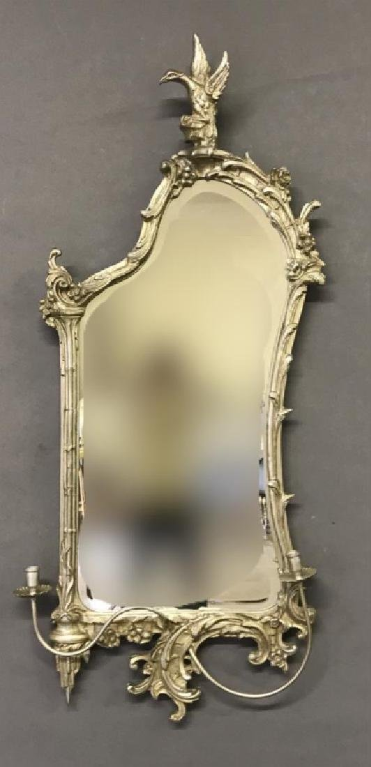 Chippendale Style Silver Mirror