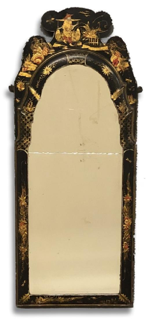 Fine Japanned Queen Anne Mirror