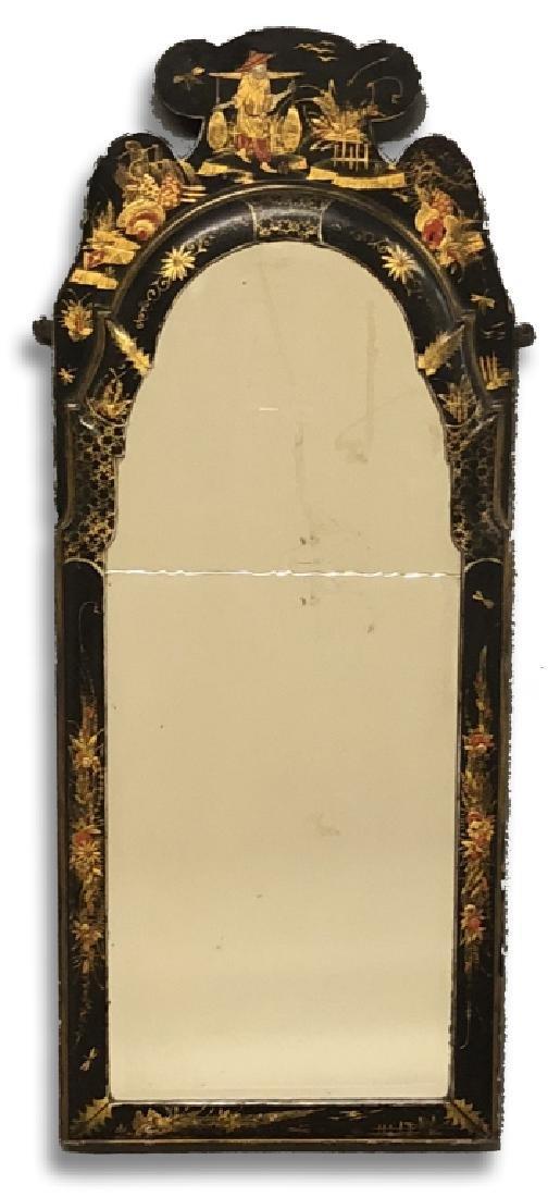 Fine Japanned Queen Anne Mirror