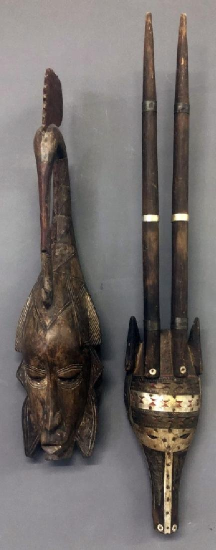 Guro Tribe Mask and Malinke Antelope Mask