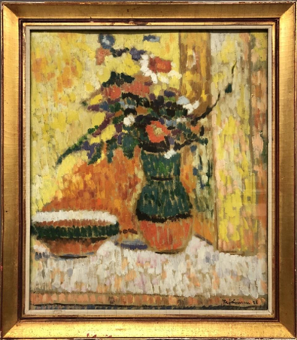 George Stefanescu Oil Painting of Flowers