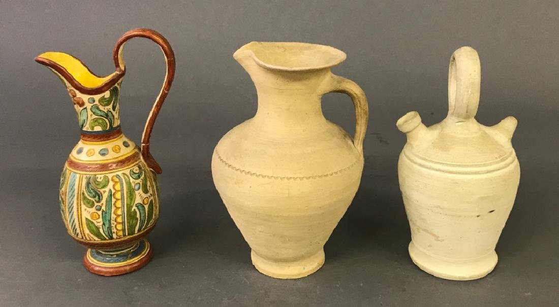 Three Pottery Vessels