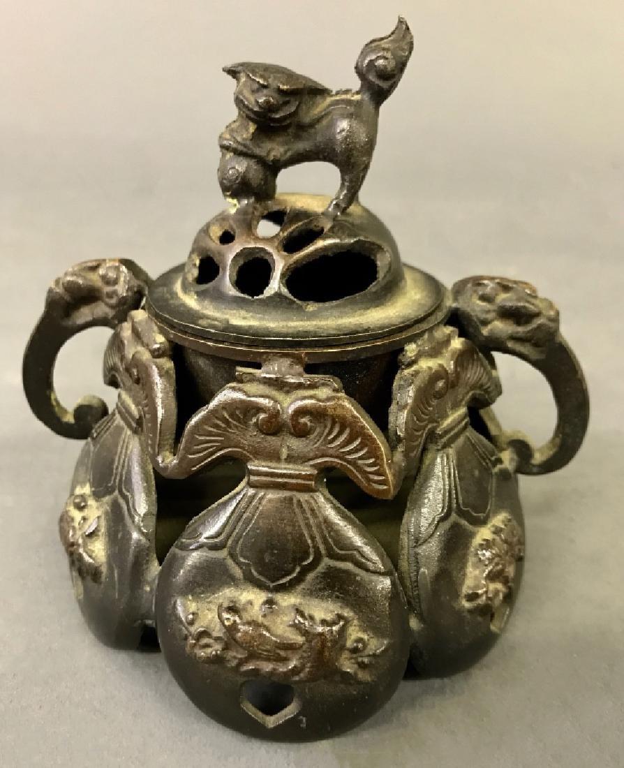Asian Bronze Covered Censer