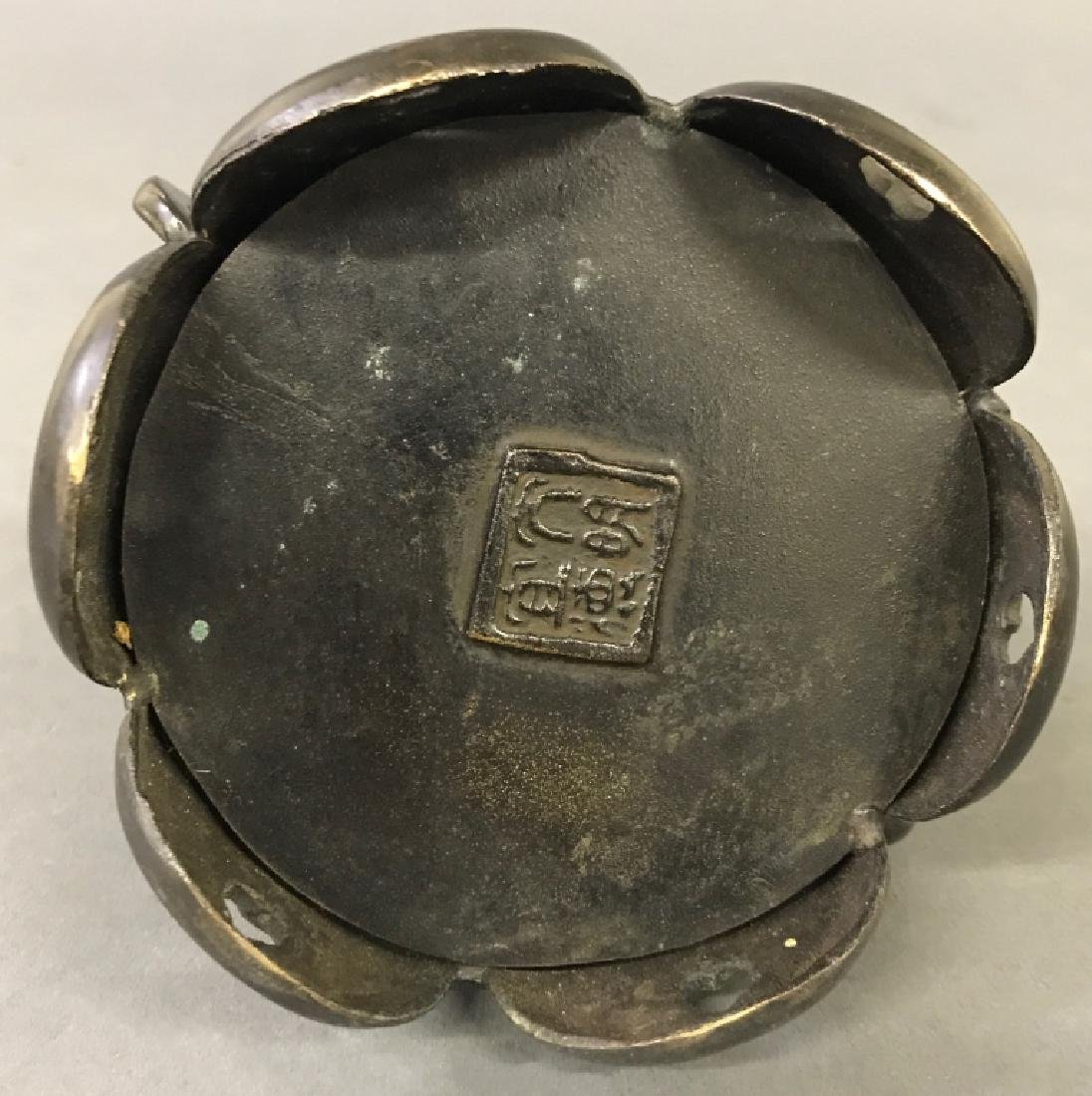 Asian Bronze Covered Censer - 4