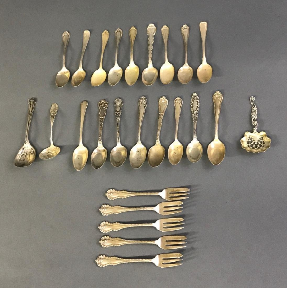 Grouping of Silver Flatware