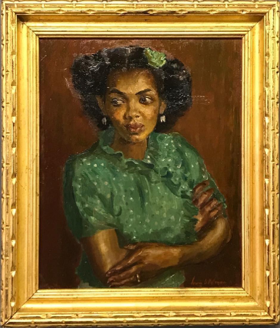 Irwin D. Hoffman Oil on Canvas Portrait