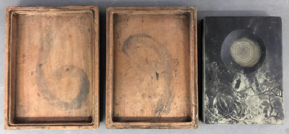 Chinese Ink Stone in a Wood Case - 4