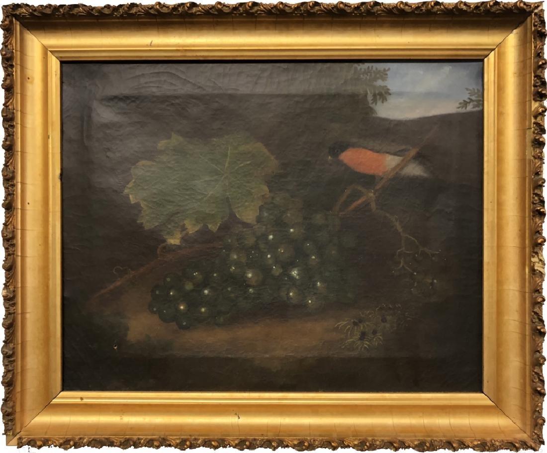 Robert Street Oil on Canvas Still Life of a Robin
