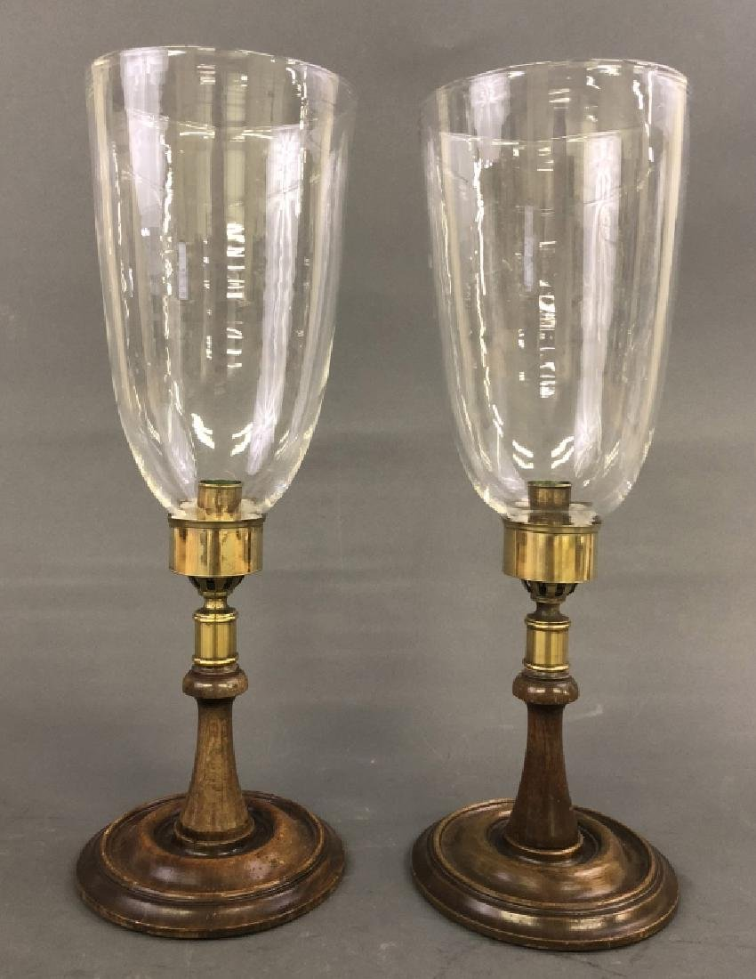 Pair of Hurricane Shade Candleholders