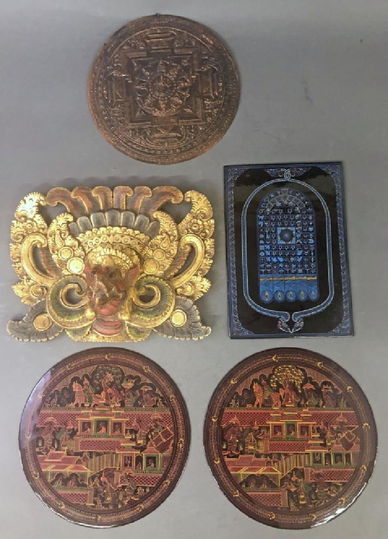 Five Asian Plaques
