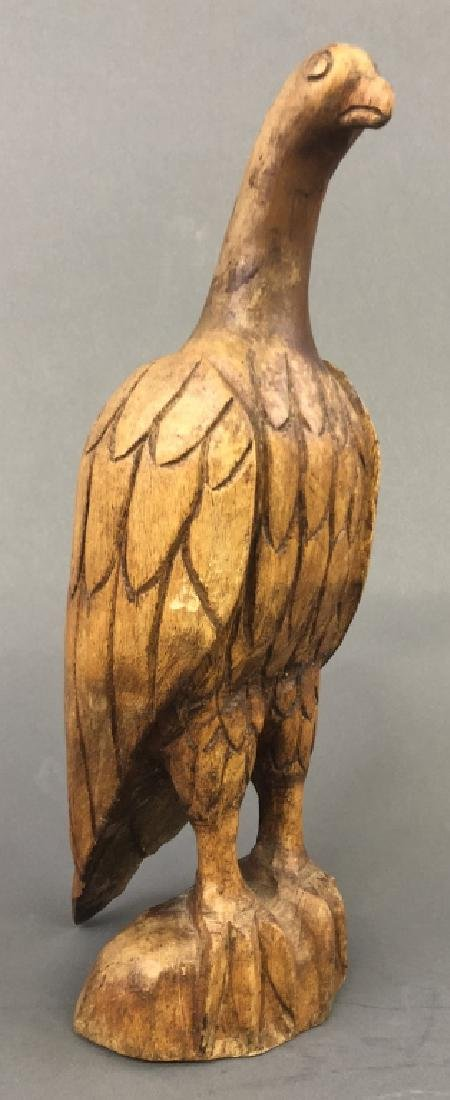 Folk Art Carved Standing Eagle