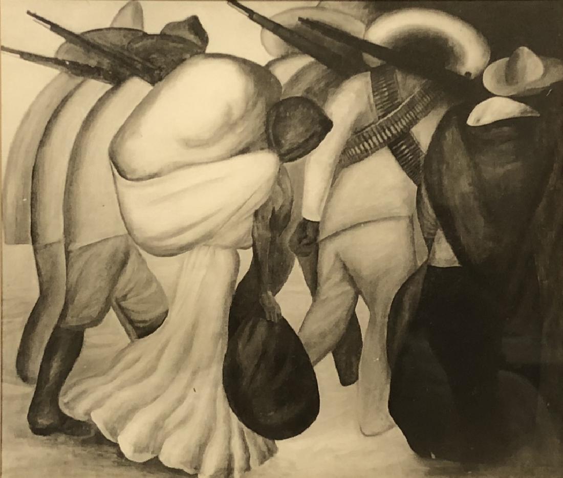 """Jose Clemente Orozeo Print """"Las Soldaderas"""" - 2"""