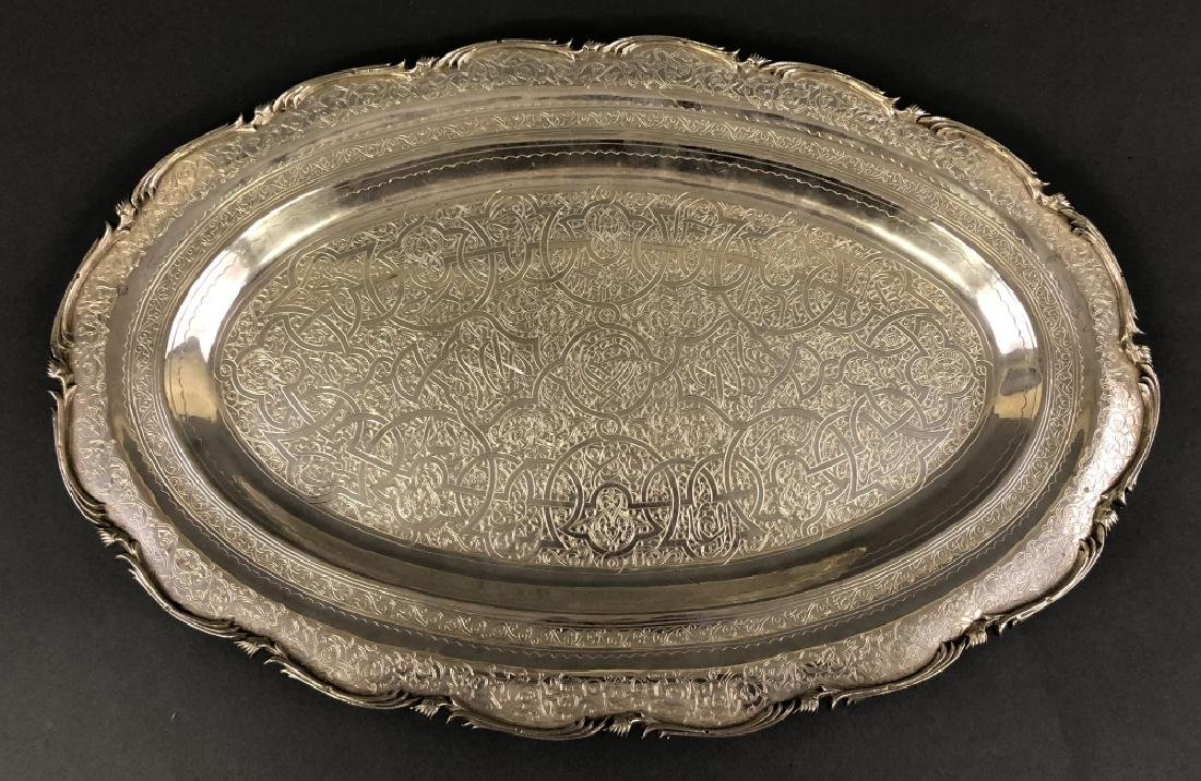 Egyptian Sterling Silver Oval Platter