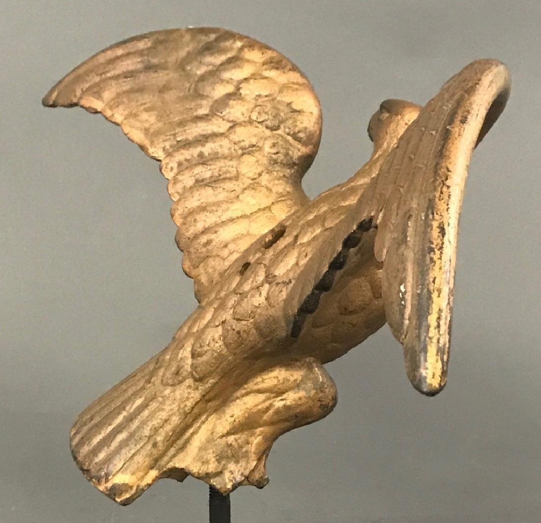Gilt Painted Cast Iron Eagle - 6