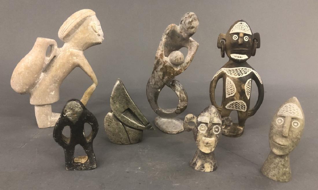 Stone Carved Figures Including Thomassie Kudluk